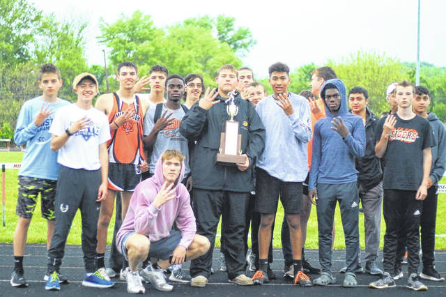 Waverly's boys' track team was named SOC II boys' champions at the SOC meet held at Minford Thursday.