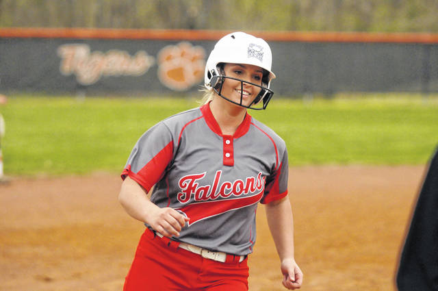 Minford junior Hannah Tolle's bat has been one of the most reliable weapons for the Falcons this season.