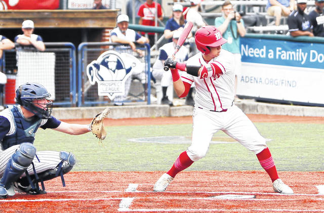 Minford senior Luke Lindamood's two run bomb in their district final game against Adena helped lift them to their second consecutive district championship win.