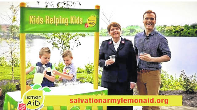An example of a LemonAiD stand for the Salvation Army