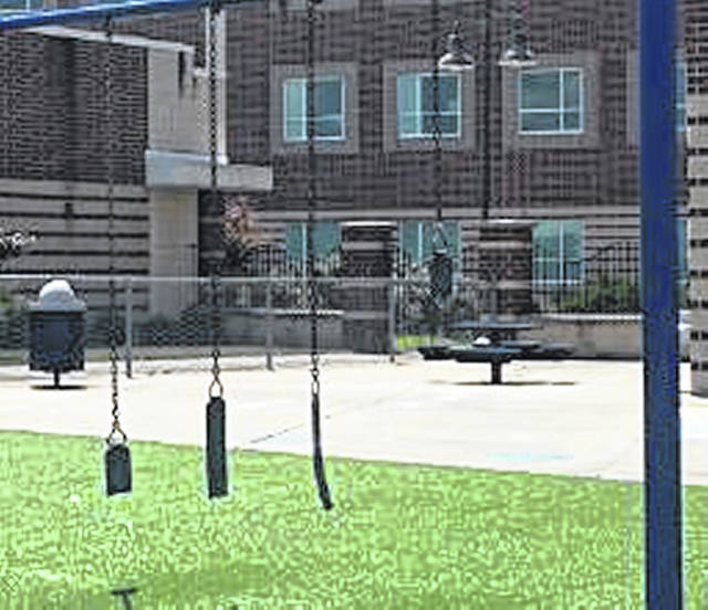 Portsmouth City Schools are replacing swings that were damaged at the prekindergarten and kindergarten playground.