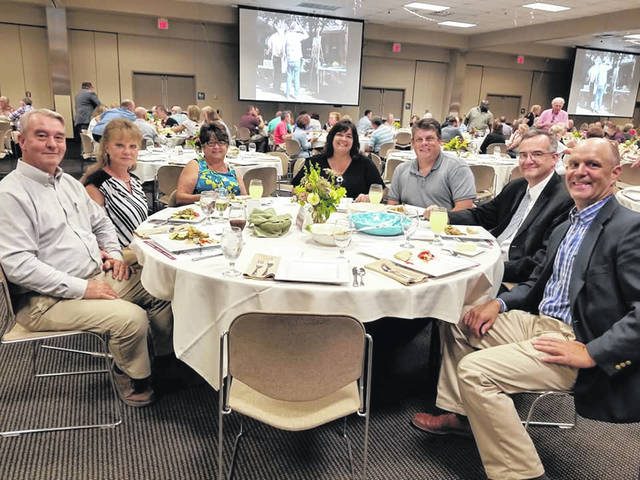 Economic Development Director Robert Horton, Commissioners Cathy Coleman and Bryan Davis, Judge Mark Kuhn, and State Representative Brian Baldridge were among those in attendance at last year's dinner.