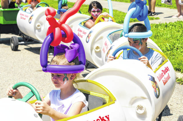 Kids enjoyed the Ducky Derby train at the Lucasville Bicentennial Celebration Saturday afternoon.