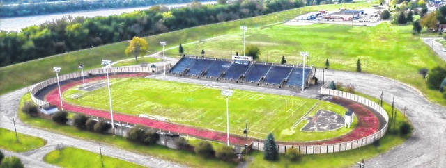 An aerial view of Spartan Municipal Stadium.