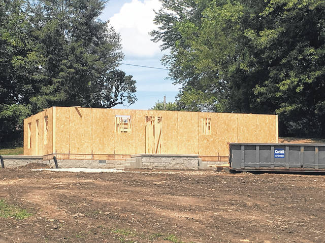 This home, being built in Sciotoville by Habitat For Humanity will be for a local veteran.