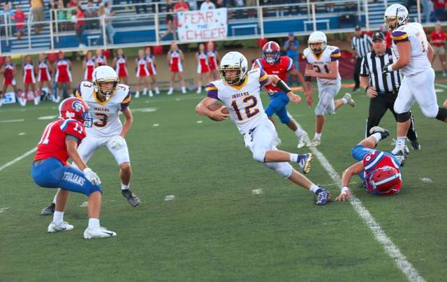 Valley junior quarterback Andrew Andronis scored three touchdowns in his first game as the Indians starting quarterback Thursday night against Portsmouth.