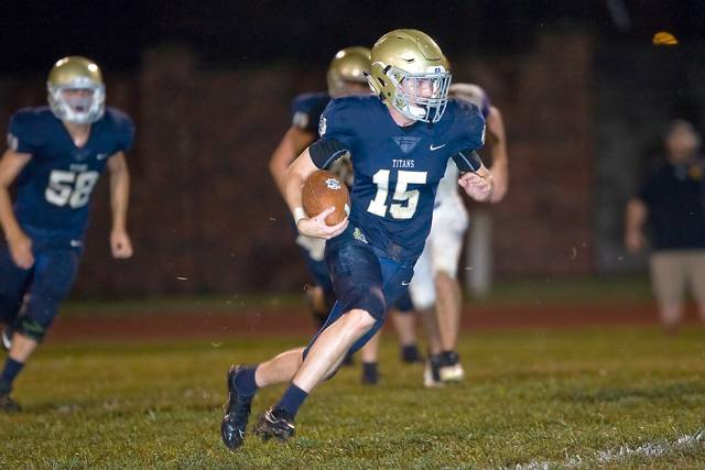 Notre Dame sophomore Beau Hobbs finished with 61 yards on the ground in the Titans season opening loss to Southern.