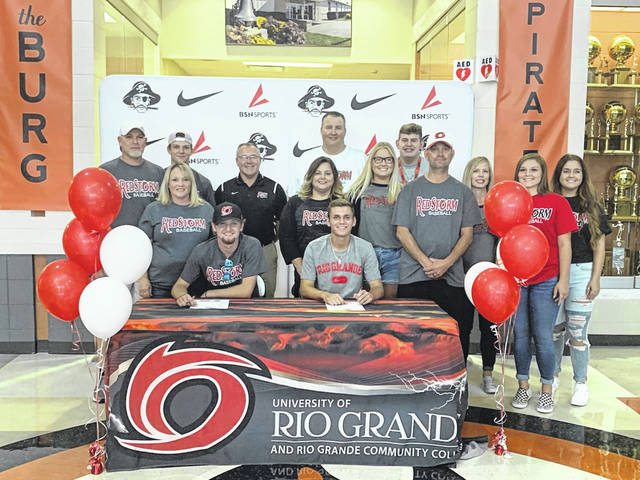 2019 Wheelersburg graduates Trey Carter and Connor Mullins signed to play collegiate baseball at the University of Rio Grande Wednesday.