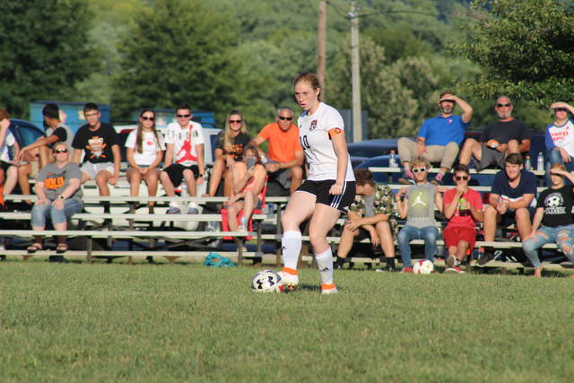 Wheelersburg junior captain Laney Eller scored two goals in the Pirates road win over West Wednesday.