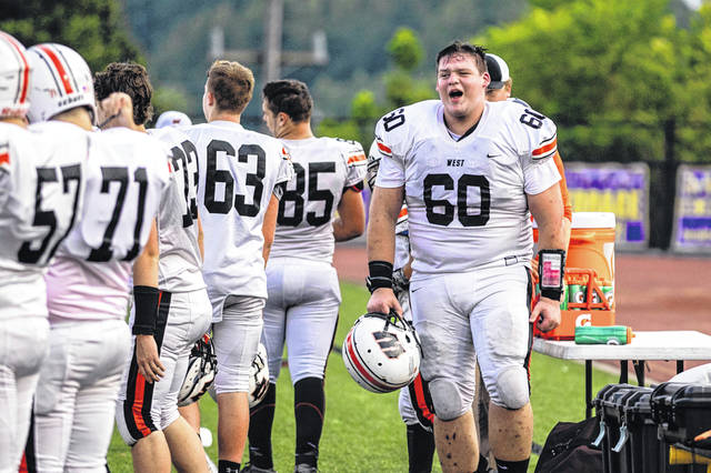 West senior offensive lineman Joe Igaz (60) will be one of the staples of the Senators' offense in 2019.