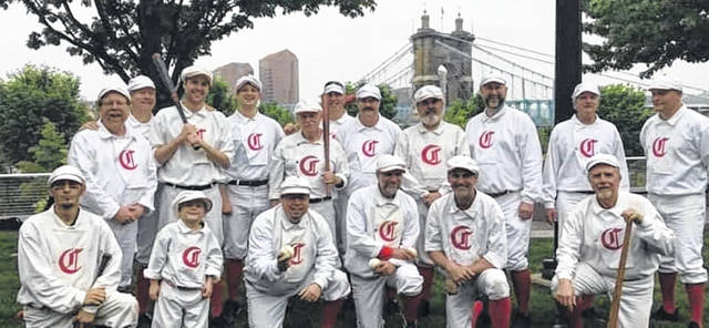 This group of players dressed as players from the Cincinnati Reds 1869 team will take on the Portsmouth Picked 9 this Sunday at Earl Thomas Conley Park in West Portsmouth beginning at 3 p.m. August 4th.