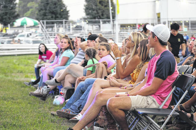 The front row at the Shane Runion concert Tuesday evening at the Scioto County Fair was filled with his former eighth grade history students from Greenup County.