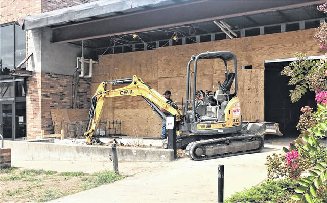 Workers take on renovations to the south side of SSU's athletic facilities.