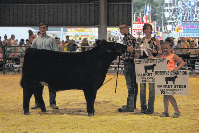 Minford senior Ryan Waddell's steer was named the Scioto County Reserve Champion in Thursday's show at the Scioto County fair in Lucasville.