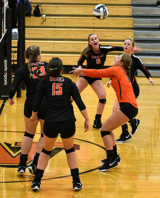 Wheelersburg defeated Waverly in straight sets Thursday night to improve to 3-0 and 3-0 in SOC II play.f