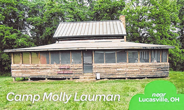 A photo of the Girl Scout camp, Camp Molly Lauman in Lucasville.