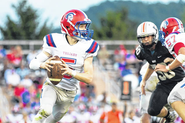 Portsmouth sophomore quarterback Drew Roe will make his first OVC road start Friday against Rock Hill.