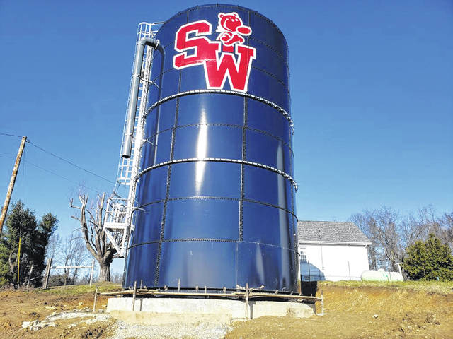 A new water storage tank for Water-1 in the South Webster area.