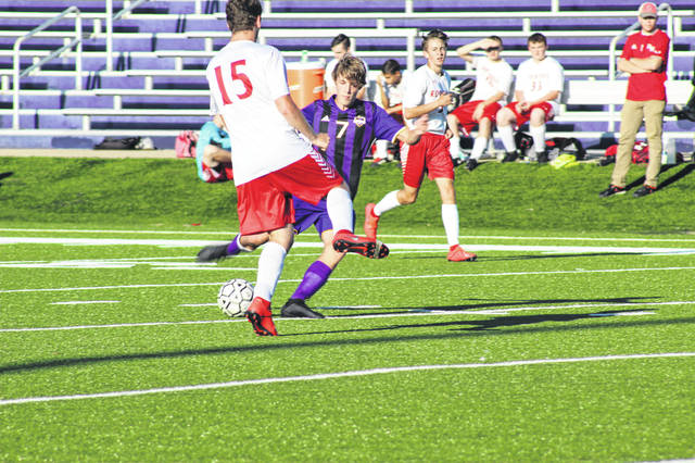 Valley sophomore Austin Sommers scored a goal and assisted on a goal during the Indians 5-1 win over Rock Hill in Lucasville Thursday.