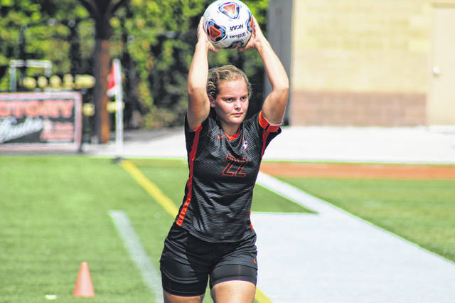 Wheelersburg senior Jordan Jennings scored the Pirates lone goal in Saturday afternoon's tie with Alexander at Ed Miller Stadium.