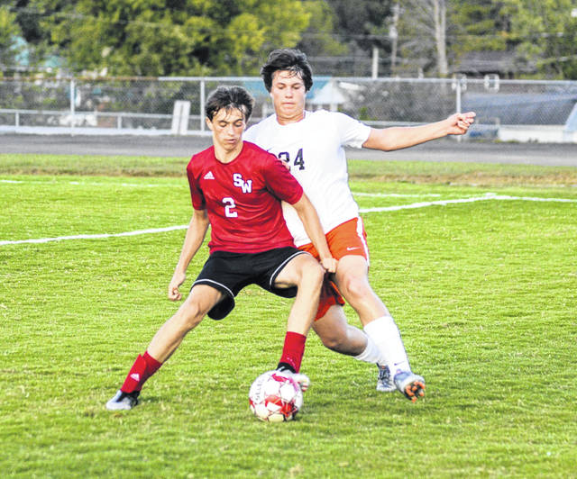 South Webster sophomore Trae Zimmerman scored one second half goal and assisted on two goals for the Jeeps in their win over Valley.