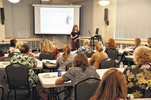 Tammy Hambrick, Resident Educator program director, led the Resident Educator program at the South Central Ohio ESC. The program offers professional development to teachers in their first four years of teaching.