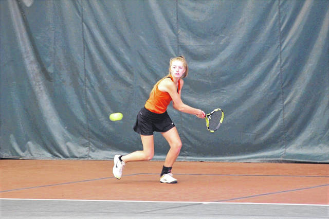 Wheelersburg senior Cadie Jenkins competed in the quarterfinals of the Division II Southeast-East District girls tennis tournament on Wednesday at Ohio University in Athens.