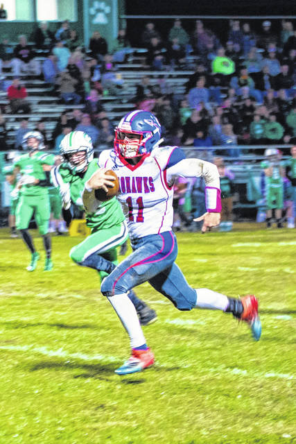 Northwest's Brayden Campbell tied an OHSAA state record with nine rushing touchdowns in the Mohawks 67-32 road win over SOC I rival Green, Friday in Franklin Furnace.