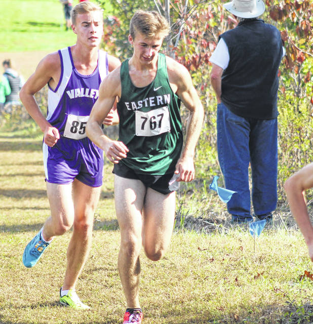 Valley senior Alex Morris qualified for the Division III regional cross country meet after placing 14th on Saturday in the Southeast District Division III boys race at the University of Rio Grande.