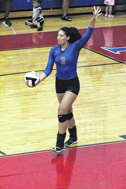 Portsmouth senior Megan Calvin was named to the first team All-OVC volleyball team for her play for the Trojans this season.