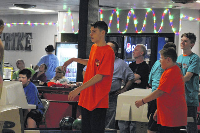 Josh Haney, a freshman at Portsmouth High School, is a first year bowler in the Just 4 Fun bowling league.