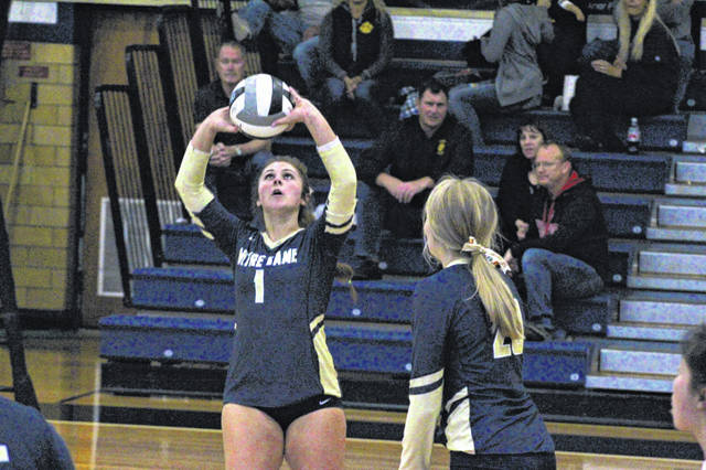 Notre Dame's Cassie Schaefer (1) was named the Division IV District 14 Co-Player of the Year alongside South Webster's Faith Maloney, District 14 announced, Monday.