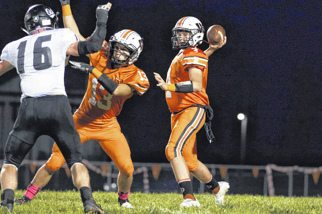 West freshman Mitchell Irwin started his first game as the quarterback for the Senators during their home loss to Oak Hill, Friday, at The Rock.