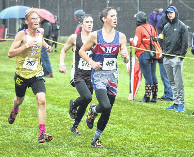 Northwest's Mason Breech competes in the Division II boys regional cross country race on Saturday at Pickerington North High School.