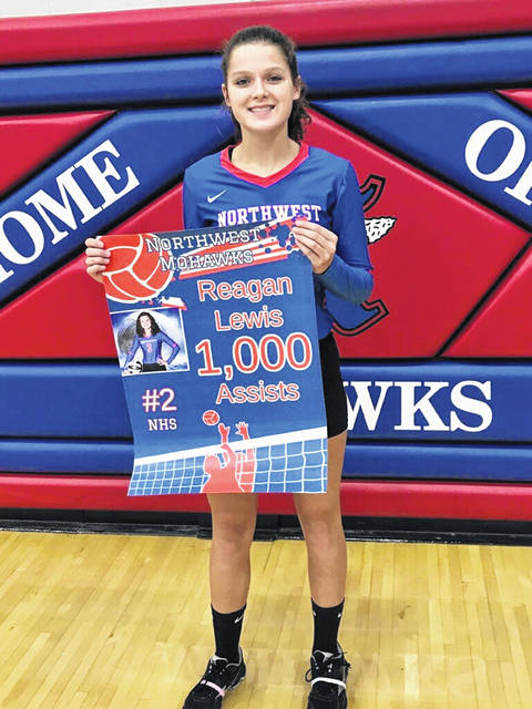 During their non-league game Monday against North Adams, Northwest sophomore setter Reagan Lewis recorded her 1,000th career assist. Lewis' efforts alongside her teammates have helped elevate the Mohawks to a 15-6 record (10-5 SOC II play) and a four seed in the upcoming D3 district tournaments.