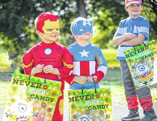 (Left to right)Napoli, Jeter, and Ryker Dekarske in costume