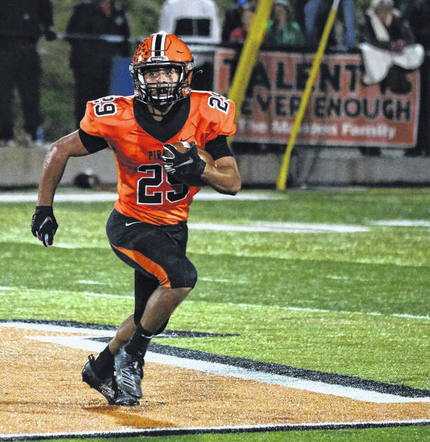 Wheelersburg senior Makya Matthews made first-team all-Southeast District as a running back for the 2019 football season.