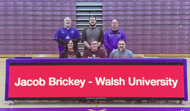 Valley senior Jacob Brickey signed his letter of intent to continue his field career at Walsh University in North Canton, Ohio.