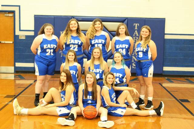 The 2019-20 East Tartans girls basketball team.