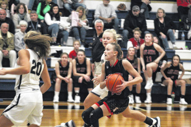 South Webster sophomore Bri Claxon finished with a team-high 19 points during the Jeeps road season-opening loss to Notre Dame.
