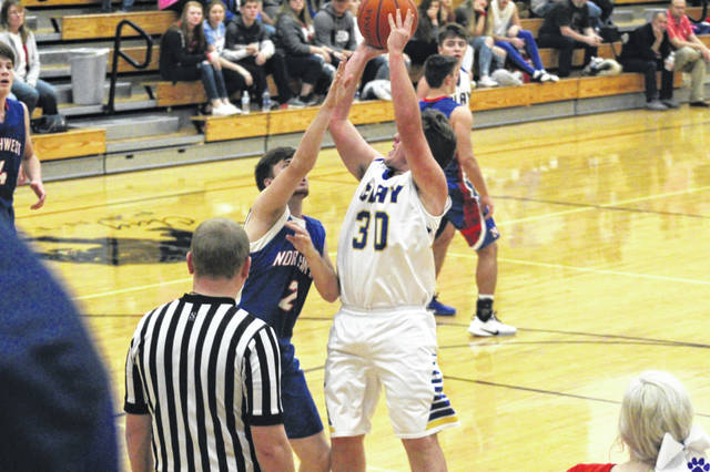 Clay junior Jaden Jessee (30) scored 14 points off-the-bench to help the Panthers in their 64-50 over Northwest in non-league play, Saturay.