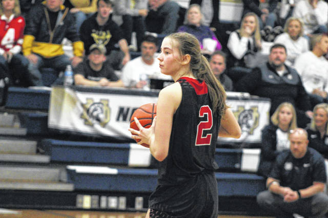 South Webster's Faith Maloney scored 20 points during the Jeeps home SOC-opening win over Valley, Monday.