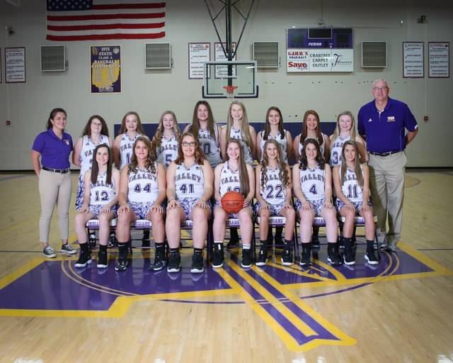 The 2019-20 Valley Indians girls basketball team.