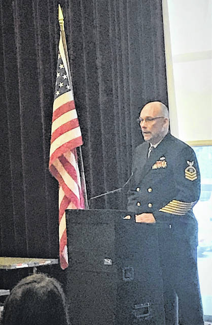 Portsmouth Police Chief Robert Ware, who is also a Naval CPO, was the first keynote speaker during SSU's Veterans Recognition Day.