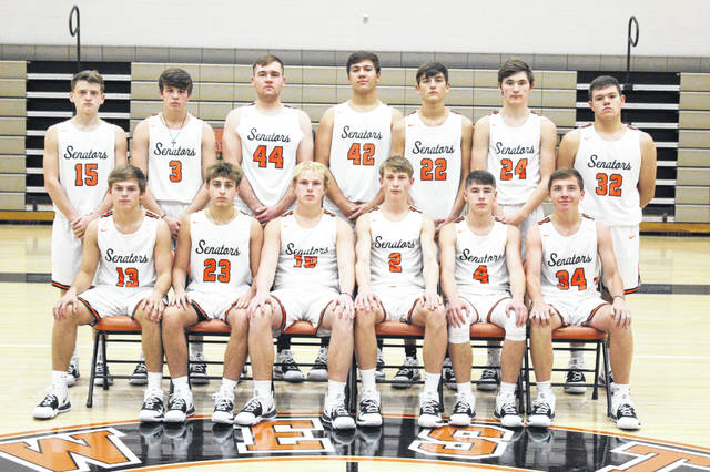 The 2019-20 Portsmouth West Senators boys basketball team.