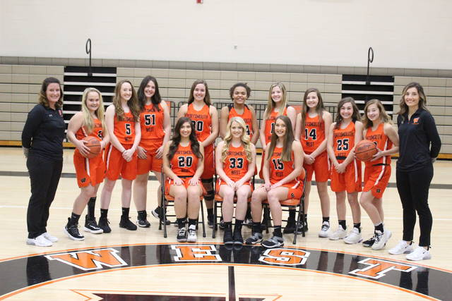 The 2019-20 West Senators girls basketball team.