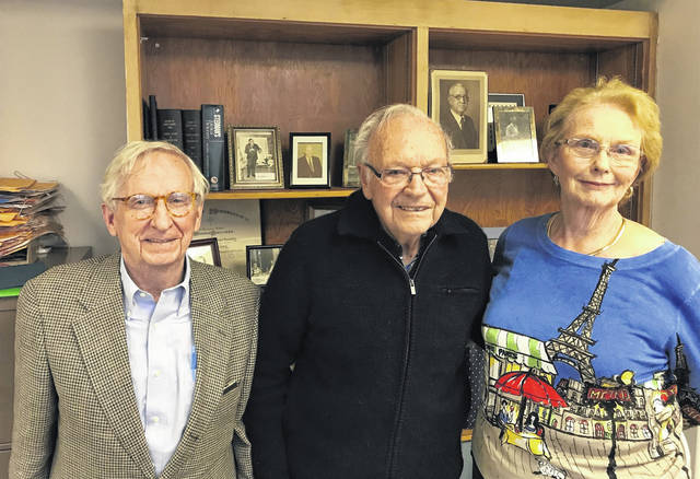 From left to right, Executive director Grace B. Martin was joined by doctors William Daehler and George White to discuss the impending demise of the Scioto County Medical Society. inside its offices in Madonna Hall.