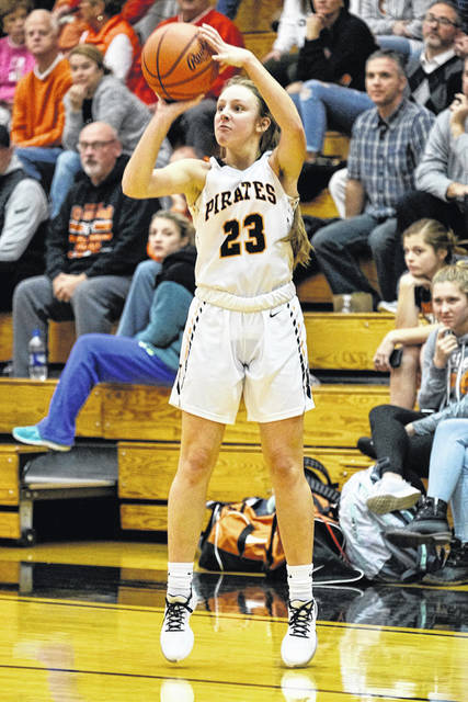 Wheelersburg junior Kaylee Darnell scored a season-high 23 points in the Pirates' 56-25 home win over Waverly on Thursday.