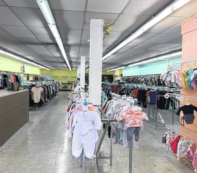 A line of mostly baby clothes, where there is so much more at the Consignment Shop