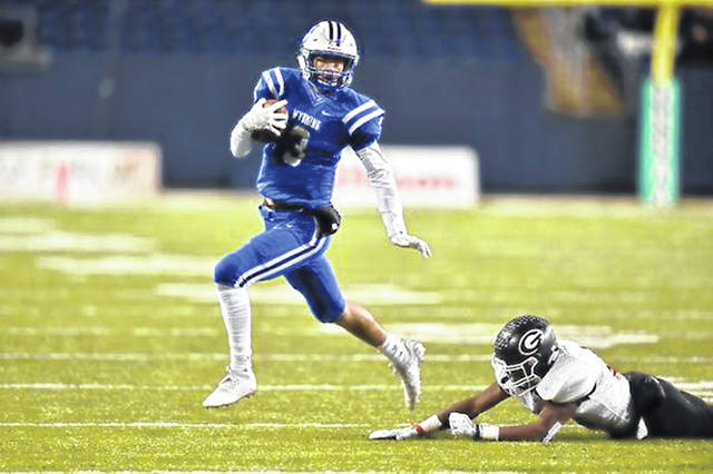 Cincinatti Wyoming's Evan Prater was named the 2019 Ohio Mr. Football after throwing for 1,816 yards, ran for 1,509 yards, and accounted for 49 touchdowns as Wyoming went 13-1 in 2019.